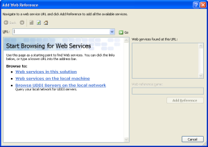 Add Web Reference Dialog